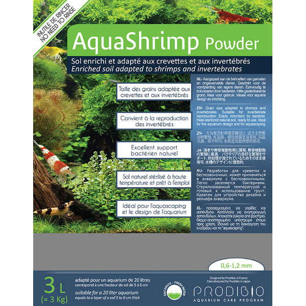 Prodibio AquaShrimp Powder 3 kg inkl. Bacter Kit Soil