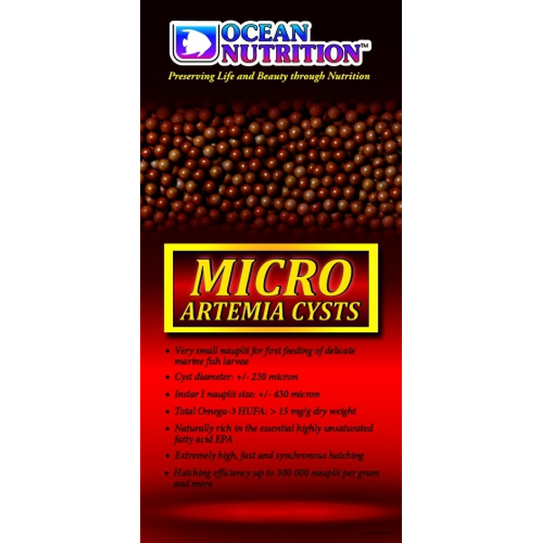 Ocean Nutrition Micro Artemia Cysts 430 micron >300.000 NPG 25 gr