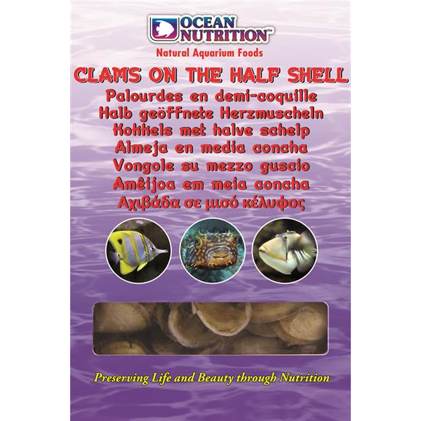 Ocean Nutrition Clams on the half Shell (Mono Tray) 100 g